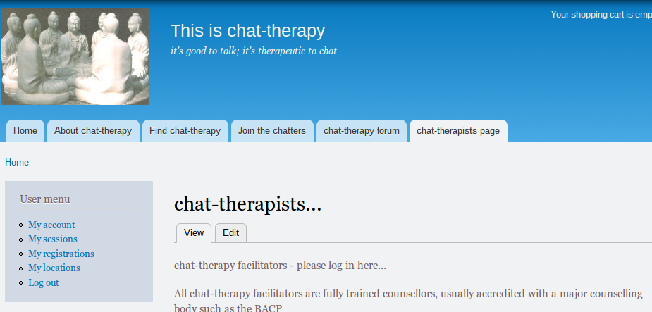 chat therapists screen